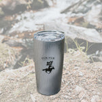 Brushed Gray 20 oz Tumbler - Colter Coffee Roasting