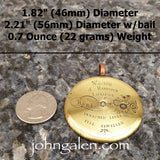Antique Timepiece Necklace Pendant No.24 - 1870's John Harrison of Liverpool - FREE SHIPPING