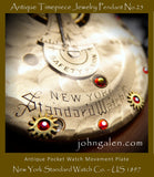 Steampunk Necklace Pendant No.25 - 1897 New York Standard Watch Co., USA  - FREE SHIPPING