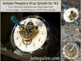 PREMIUM QUALITY Antique Timepiece Drop Spindle No.182 - Circa 1790 French Porcelain Dial - Free Shipping (US)