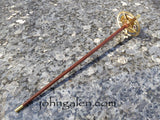Vintage Timepiece (Steampunk) Drop Spindle No.153 - Hardwood/Brass Shaft - Free Shipping (US Only)