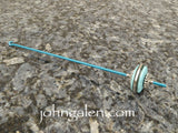 Tahkli Support Spindle No.624 - Turquoise and Silver in 11 Shaft Colors - FREE SHIPPING