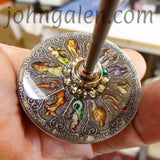 Tahkli Style Support Spindle No.655 - Personalized Zodiac, Birthstone, & Shaft Color - FREE SHIPPING (US)