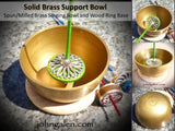Support Bowl - Brass (Singing Bowl) with wood ring base - FREE SHIPPING