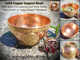 Support Bowl - Solid Copper with Flower-of-Life or Tree-of-Life - FREE SHIPPING
