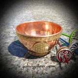 Support Spindle Bowl - Solid Copper with Flower-of-Life or Tree-of-Life - FREE SHIPPING