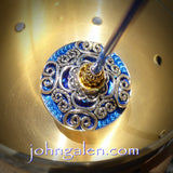 Tahkli Support Spindle No.649 - Filigree and Crystals - Choice of 10 Shaft Colors - FREE SHIPPING