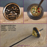 Vintage World Coin Tahkli-Style Support Spindle - 1960 Mexico 20 Centavos - Choice of Shaft 10 Colors - FREE SHIPPING