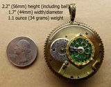 Steampunk Necklace Pendant No.8 - Re-purposed Pre-1796 French Verge Fusee Watch Movement - FREE SHIPPING