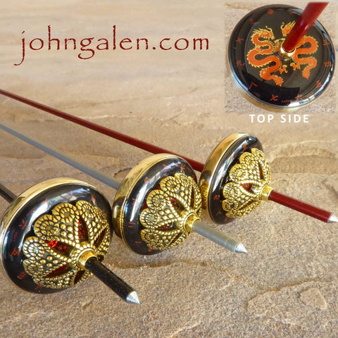 Steampunk Tahkli Style Support Spindle No. 617 - Japan Dragon and brass - FREE SHIPPING
