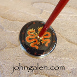 Support Spindle (Tahkli Style) - No. 617 - Brass Whorl Japan Dragon Watch Dial - FREE SHIPPING