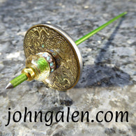 Tahkli Style Support Spindle - Mid Size No.613 - Dragons Phoenix and Crystal - FREE SHIPPING