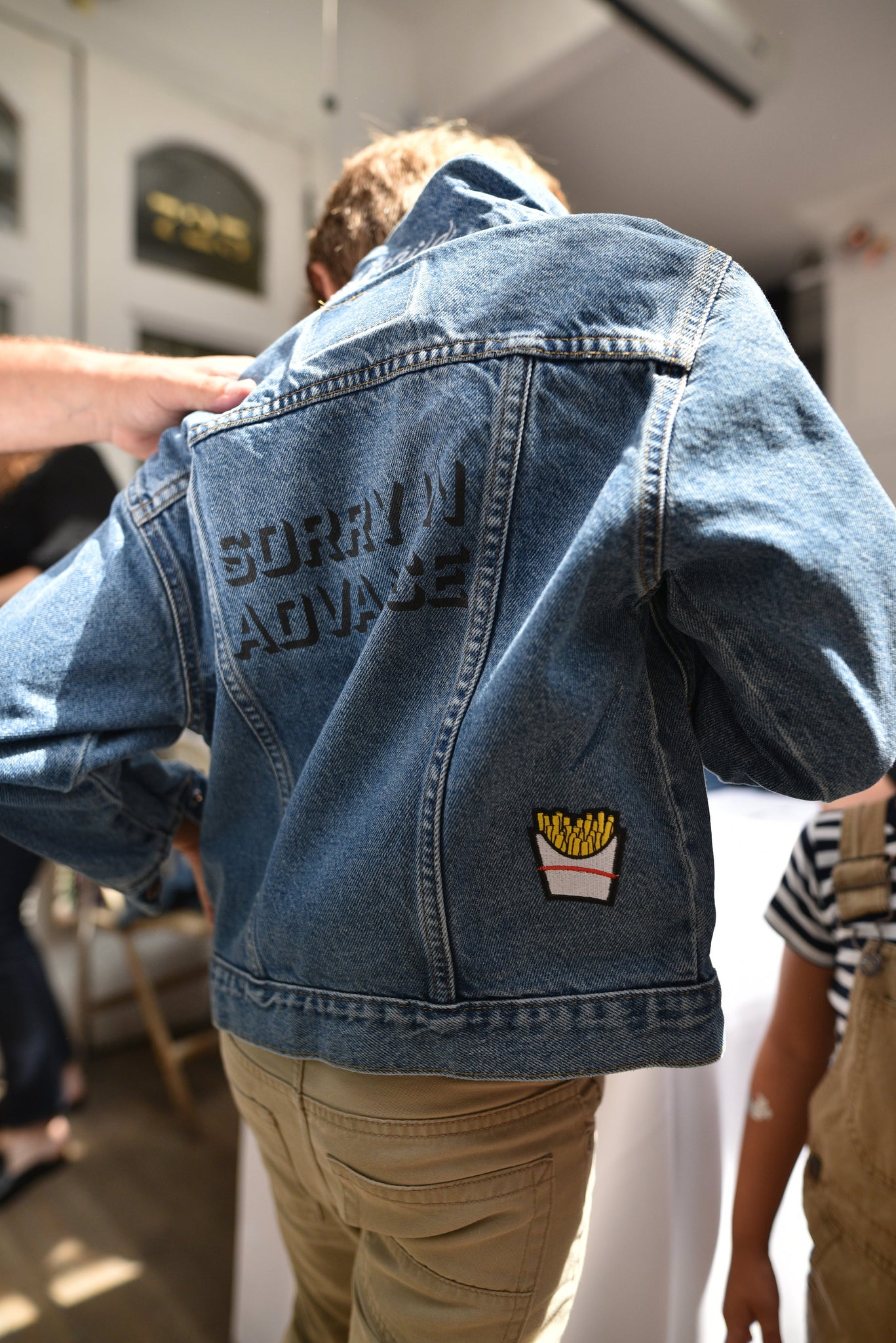 french fry patch denim
