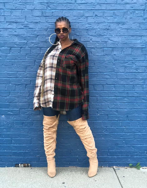SAVE FASHION Oversized Flannel