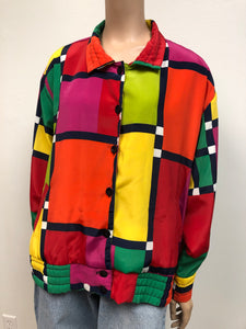 Vintage In Living Color Bomber Jacket Size L