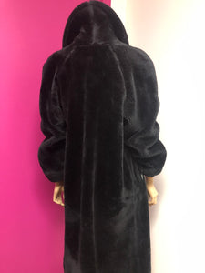 Vintage Black Bear Coat Size L