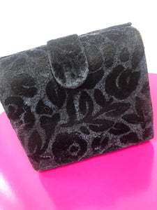 Vintage Black Rose Purse