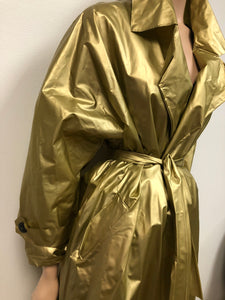 Vintage Liquid Gold Trench Size Free Up To 2X