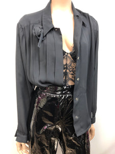 Vintage Black Rose' Blouse Size XL