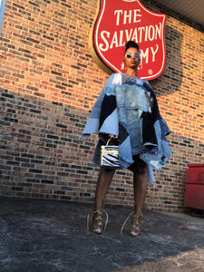 BaddGirl Custom Denim Poncho/Dress