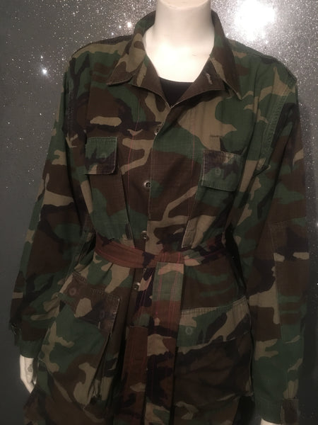Extended Clip Custom Camo Duster (W/Lining & Belt)