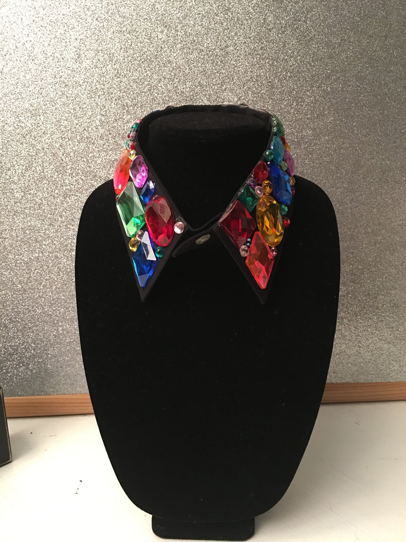 Custom Multicolored Rhinestone Embellished Collar