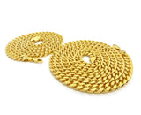 "Hip-Hop Style 6mm 24"" & 30'' Box Cuban Chain Necklace Set, Gold-Tone"