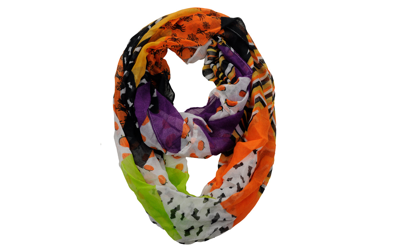Halloween Theme Sheer Loop Infinity Scarf