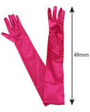 NYFASHION101 Women's Fashionable Classy Elbow Length Satin Gloves 12BL