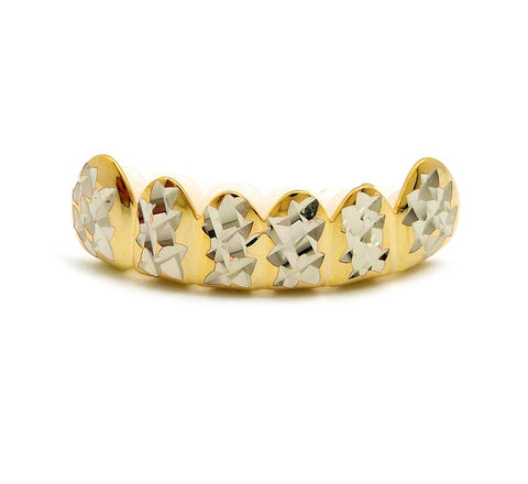 Hip Hop Rapper's Style Dental Grillz in Gold-Tone, FHS1C2G