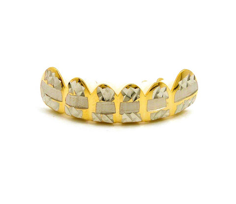 Hip Hop Rapper's Style Dental Grillz in Gold-Tone, FHS1C3G