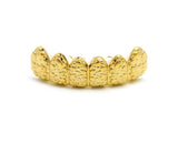 Hip Hop Rapper's Style Dental Grillz in Gold-Tone, FHS616G