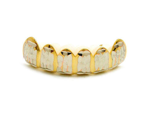Hip Hop Rapper's Style Dental Grillz in Gold-Tone, FHS1C1G