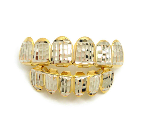 Hip Hop Rapper's Style Dental Grillz Set in Gold-Tone, GL4G