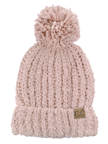 1c2367f69d9f79 C.C Women's Chenille Soft Stretchy Pom Cuffed Knit Beanie Cap Hat –  NYFASHION101