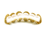 Hip Hop Rapper's Style Dental Grillz in Gold-Tone, FHL616G