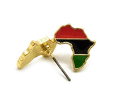 Pan Africa Stud Micro Earrings in Gold-Tone, Pan Africa