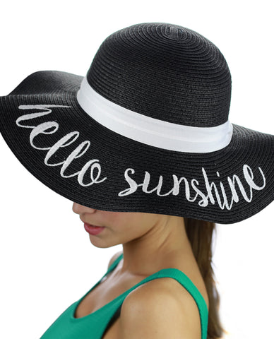ac1a778ae95 ... C.C Women s Paper Weaved Crushable Beach Embroidered Quote Floppy Brim Sun  Hat