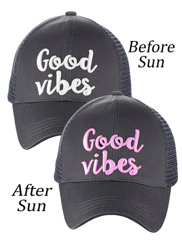 388fafa9dd3 ... C.C Ponycap Color Changing Embroidered Quote Adjustable Trucker  Baseball Cap