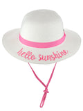 C.C Children's Weaved Crushable Beach Embroidered Quote Flop Brim Sun Hat