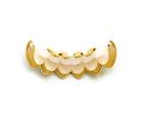 Hip Hop Rapper's Style Dental Grillz in Gold-Tone, FHS020G