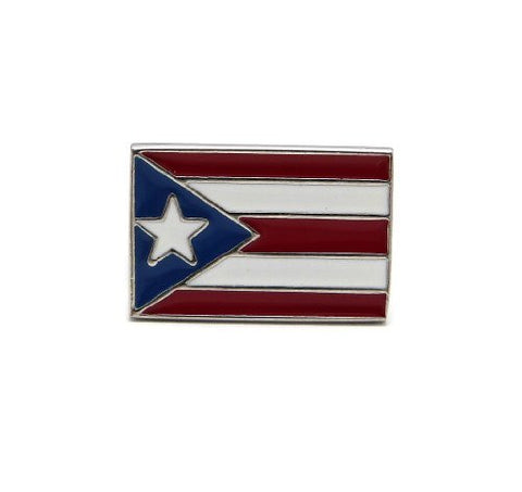 Puerto Rico Flag Stretch Ring in Silver-Tone