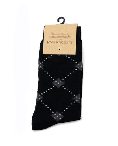 NYfashion101 Men's Casual Diamond Dotted Print Socks By The Dozen