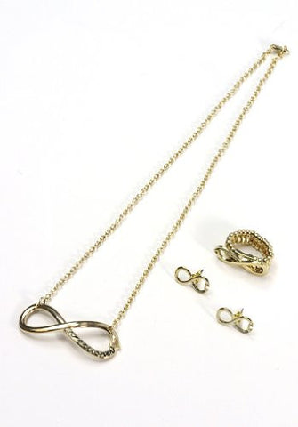 Directioner® Infinity Necklace, Earrings, and Ring Jewelry Set in Gold-Tone