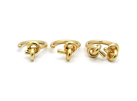 3 Piece Love Knot Knuckle Ring Set