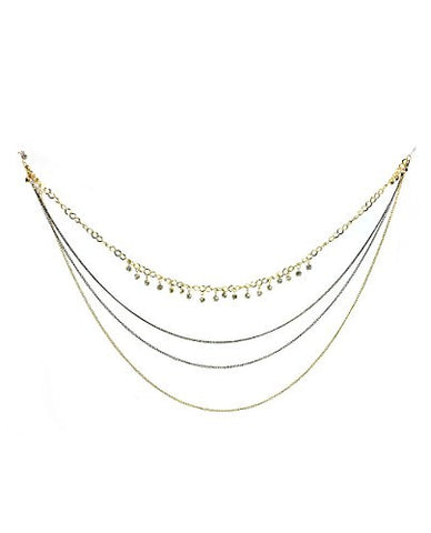 Bohemian Multi Link Chain Rhinestone Stud Charm Hook Earring Lace to Necklace