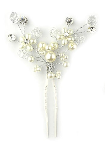 V-Shape Tree Branch Floral Design Hair Stick