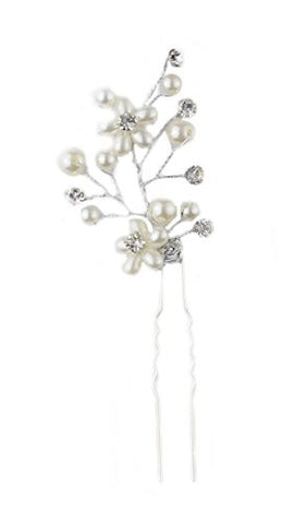 2 Flower Charm Hair Stick Jewelry for Women