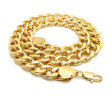 Women's Hip Hop Rapper's style 15mm Cuban Chain Necklace in Gold-Tone, 20""
