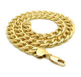 Women's Hip Hop Rapper's style 13mm Cuban Chain Necklace in Gold-Tone, 30""